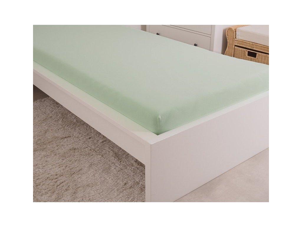 5000 1 prosteradlo jersey cesana bavlna mako 90x200 cm svetle zelena