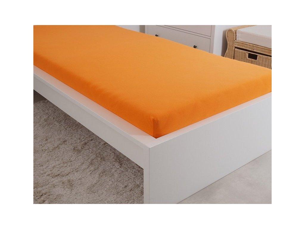 5060 1 prosteradlo jersey cesana bavlna mako 180x200 cm oranzova