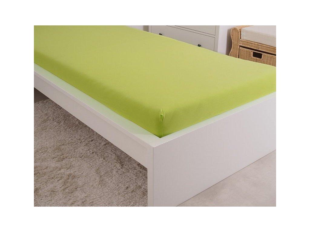 5087 1 prosteradlo jersey cesana bavlna mako 180x200 cm svitiva zelena