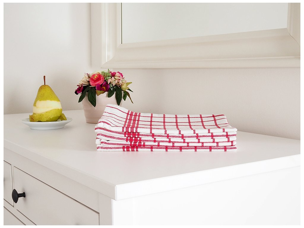 Kuchyňská utěrka MONA 50x70 - Červená