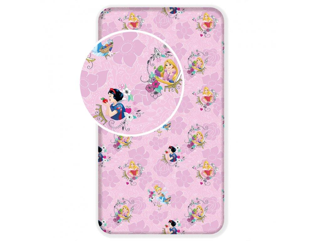 5717 detske licencni prosteradlo z bavlny princess pink 02 90x200 cm