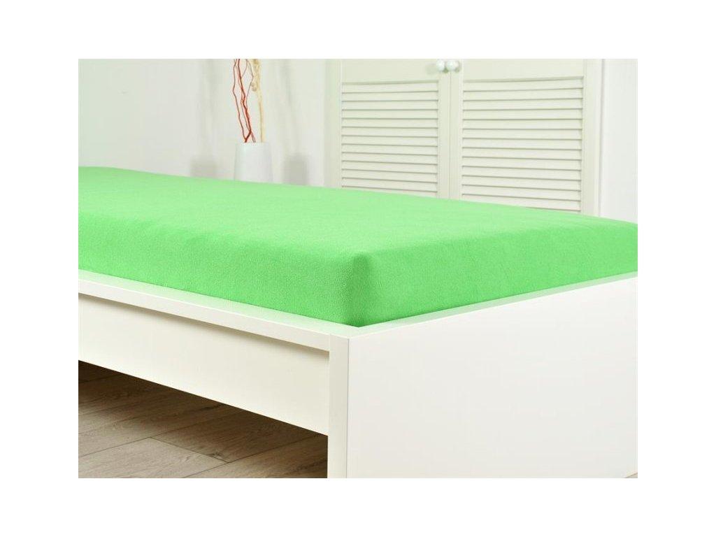 Froté prostěradlo 180x200 svěží zelená (160g/m2)