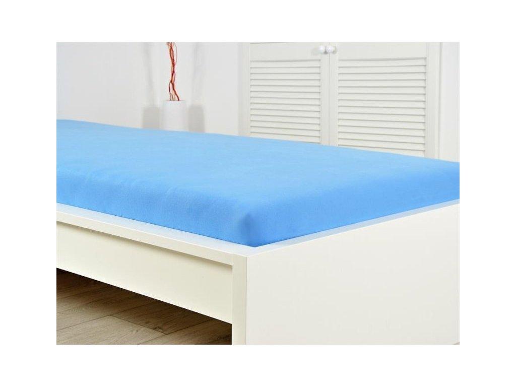 Prostěradlo Jersey bavlna IDEAL 90x200 cm – Nebeská modrá