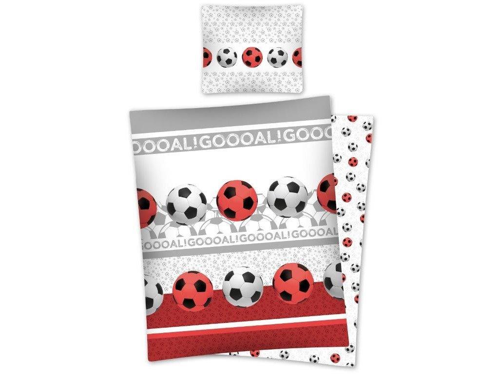 Povlečení Bavlna 140x200 - Fotbalové míče Goooal 2638A