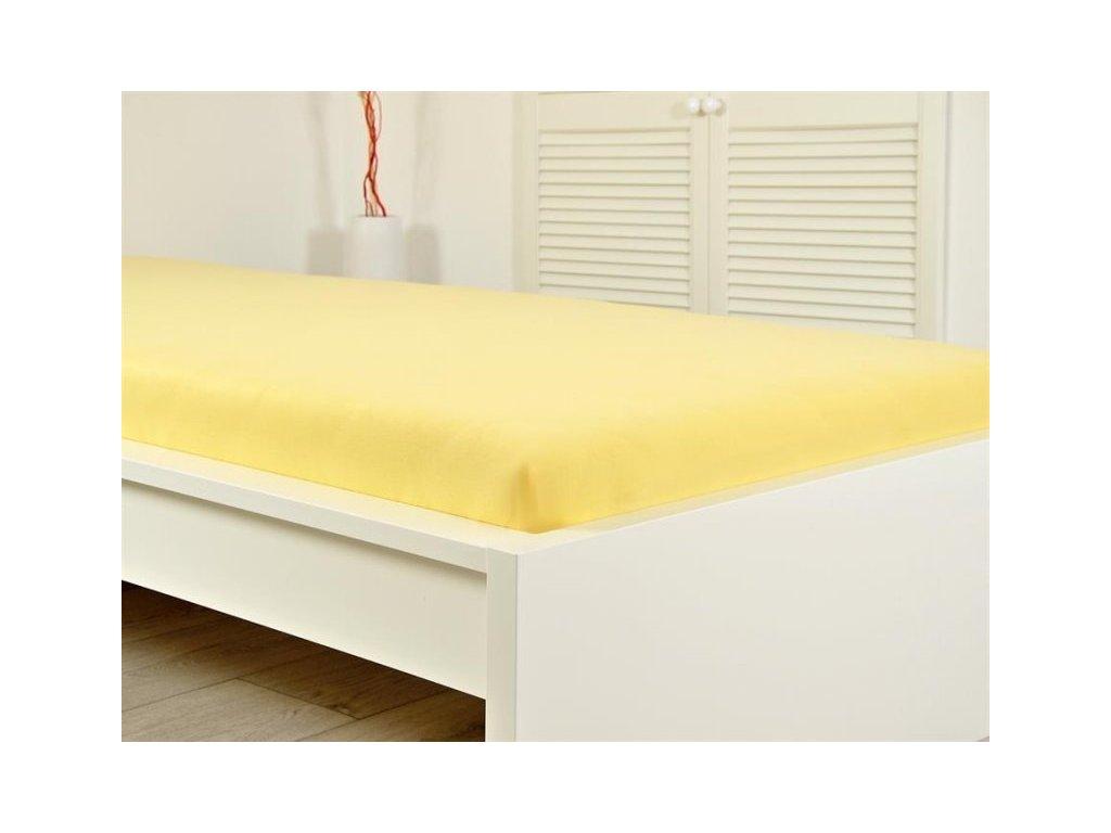 Prostěradlo Jersey bavlna IDEAL 180x200 cm - Žlutá