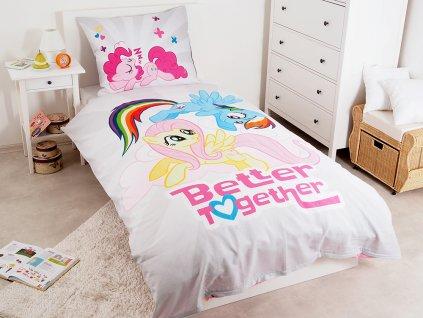 70 x 80 cm - DETEXPOL Povlečení My Little Pony grey 140x200 70x80