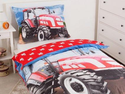 Dětské licenční bavlněné povlečení 140x200+70x90 - Traktor Extreme Power