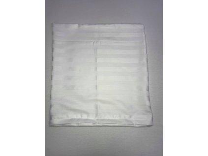 Bavlněný potah na polštářek 40x40 ATLAS GRÁDL- bílý 2cm pruh