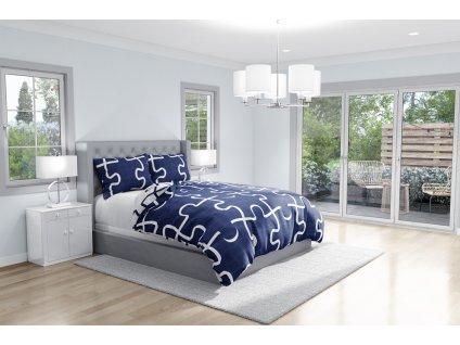 Bavlnene povleceni Puzzle Modré TOP ROT161024