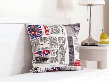 Dekorační polštářek 45x45 - English news
