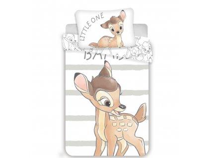 Povlečení do postýlky 100x135 + 40x60 cm - Bambi Stripe baby