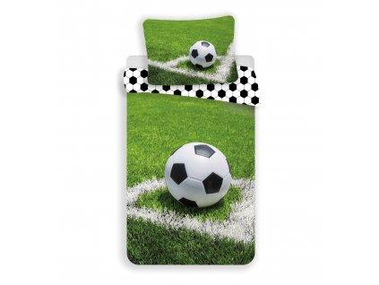 Bavlněné povlečení se zipem Fotbal 140x200 + 70x90