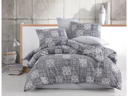 TipTrade -  Bavlněné povlečení 140x200 + 70x90 cm - Ceramica šedé