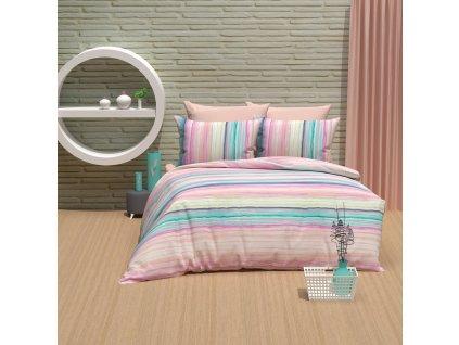 Povlečení Bavlna 140x200+70x90 - Gradient Růžové