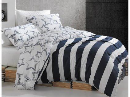 200 x 220 cm -  Bavlněné povlečení 200x220 + 2x 70x90 - Stella modré
