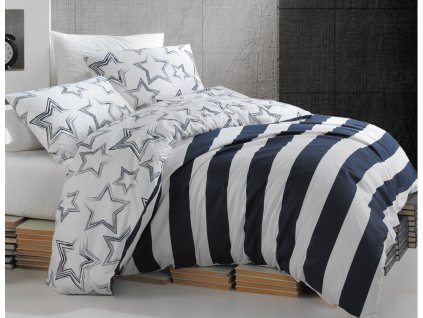 TipTrade -  Bavlněné povlečení 140x200 + 70x90 cm - Stella modré