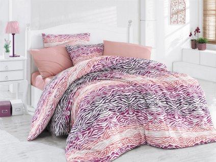 220 x 200 cm Francouzské -  Povlečení Bavlna 220x200+70x90(2x) - Gravír Růžové
