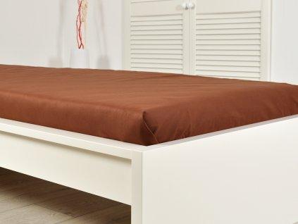 Froté prostěradla -  Prostěradlo Froté PERFECT 140-160x200 cm – Tmavá hnědá