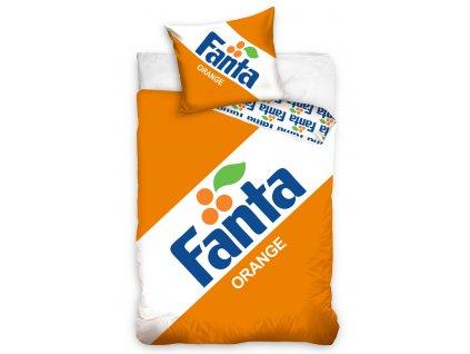 Licenční bavlněné povlečení 140x200+70x90 - Fanta Clasic Logo