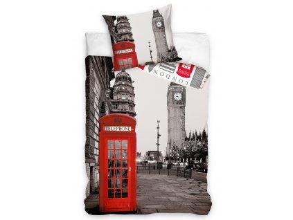 Povlečení bavlněné fototisk 140x200+70x90 - Večerní Londýn