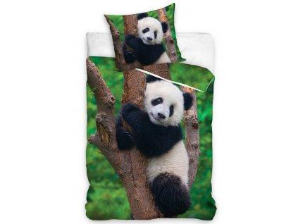 Bavlněné povlečení fototisk se zipem 140x200+70x90  - Medvídek Panda