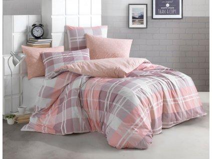 200 x 220 cm -  Bavlněné povlečení 200x220 + 2x 70x90 - Mark růžové