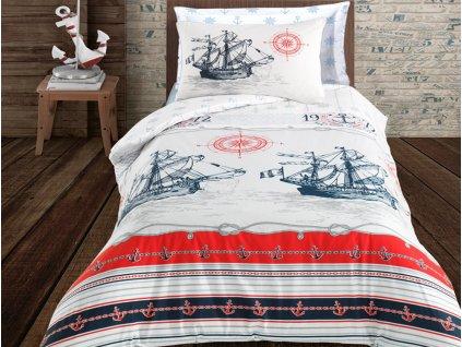 Bavlněné povlečení -  Bavlněné povlečení 140x200 + 70x90 cm - Nautical