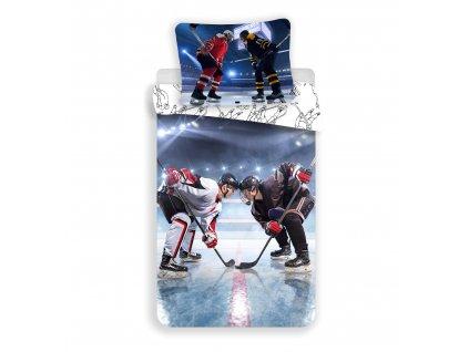 3D fototisk -  Bavlněné povlečení 3D fototisk 140x200+70x90 - Lední Hokej