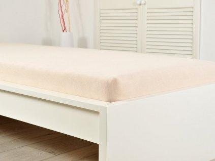 Froté prostěradla -  Prostěradlo Froté PERFECT 140-160x200 cm – Bílá káva