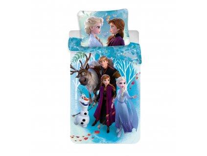 Dětské bavlněné povlečení 140x200+70x90 - Frozen 2 Family