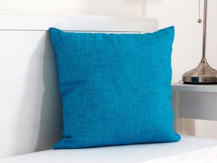 Dekorační polštářek 45x45 - tyrkys