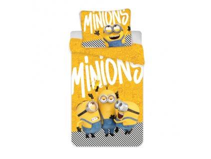 12515 bavlnene povleceni 140x200 70x90 cm mimoni 2 yellow