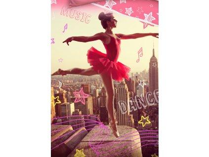 3D fototisk -  Bavlněné povlečení 140x200 + 70x90 cm - Tančící Baletka