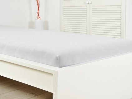 Jersey elastické prostěradlo 90x200 šedá (170g/m2)