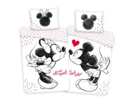 140 x 200 cm - JERRY FABRICS Povlečení Mickey a Minnie All We Need Bavlna 140x200 70x90