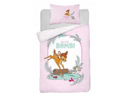 Povlečení do postýlky 100x135 + 40x60 cm - Bambi a králíček