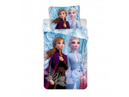 3D fototisk - JERRY FABRICS Povlečení Ledové Království 2 blue 140x200 70x90
