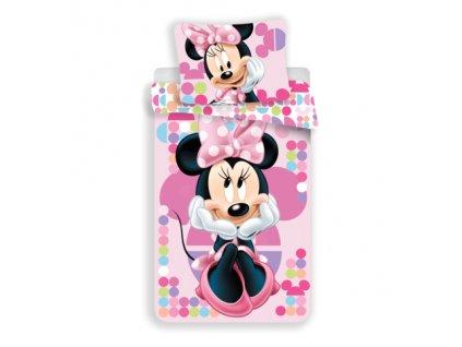 3D fototisk - JERRY FABRICS Povlečení Minnie pink 03 micro Polyester - mikrovlákno 140x200 70x90