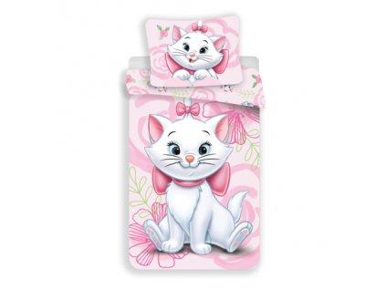 3D fototisk - JERRY FABRICS Povlečení Kočička Marie pink 02 micro Polyester - mikrovlákno 140x200 70x90