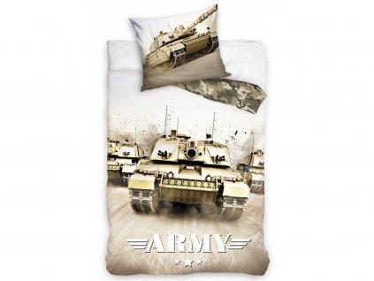 Bavlněné povlečení -  Bavlněné povlečení 140x200 + 70x90 cm - Tank Army
