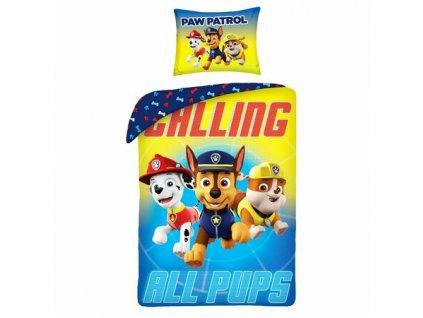 Detske bavlnene povleceni Paw Patrol Calling All Pups 140 x 200 cm 70 x 90 cm
