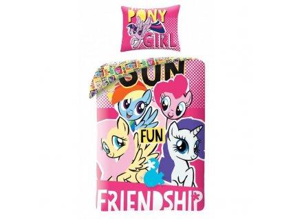70 x 90 cm -  Bavlněné povlečení My Little Pony 140x200 + 70x90 cm + VAK