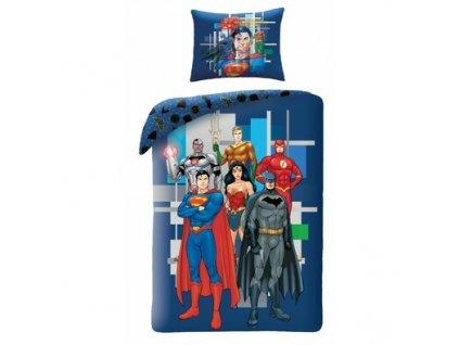 Bavlnene povleceni Justice League 8102 140 x 200 cm 70 x 90 cm