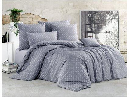 140 x 200 cm - BedTex bavlna povlečení Gudrun šedé 140x200 70x90