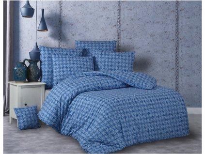 140 x 200 cm -  Bavlněné povlečení 140x200 + 70x90 cm - Snorri modré
