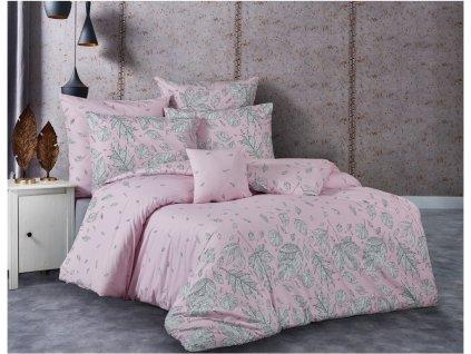 TipTrade -  Bavlněné povlečení 140x200 + 70x90 cm - Hosttid růžové