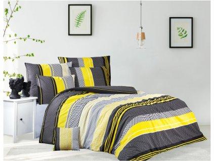 TipTrade -  Bavlněné povlečení 140x200 + 70x90 cm - Zigo žluté