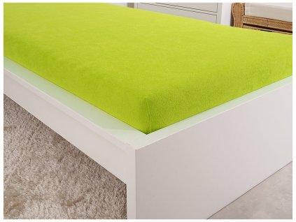 Froté prostěradla -  Prostěradlo Froté PERFECT 140-160x200 cm – Svítivá zelená