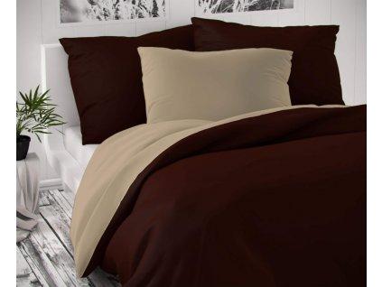 satenove francouzske povleceni luxury collection 1 2 200x200 70x90cm tmave hnede bezove 0