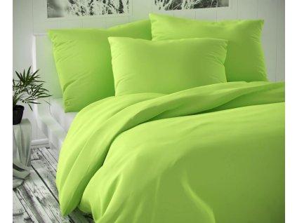 Kvalitex -  Saténové prodloužené povlečení LUXURY COLLECTION 140x220 + 70x90 cm - Světle zelené